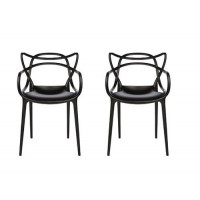 2 X Midcentury Modern Masters Dining Chair In Black