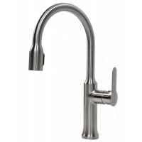 Allora Roman Style Lead Free Brushed Nickel Kitchen Faucet