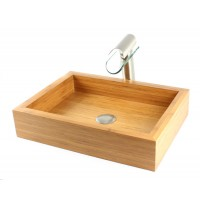 Grace - Bamboo Countertop Bathroom Lavatory Vessel Sink - 18-7/8 x 14 Inch