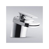 Contemporary Waterfall Flat Spout Single Hole Bathroom Faucet - 5 x 2-1/2 Inch Chrome