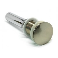 Brushed Nickel Bathroom Pop-up Drain with Overflow-1