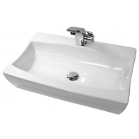 25 Inch Porcelain Ceramic Single Hole Countertop Bathroom Vessel Sink