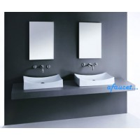 26 Inch European Style Porcelain Ceramic Countertop Bathroom Vessel Sink
