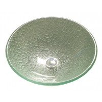 16-1/2 Inch Swift Green Design Glass Countertop Bathroom Lavatory Vessel Sink
