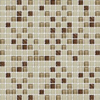 Brown Cocoa Frosted Blend Glass Mosaic Textured Tile Mesh Backed Sheet