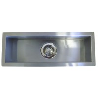 23 Inch Stainless Steel Undermount Single Narrow Bowl Kitchen / Bar / Prep Sink Zero Radius Design