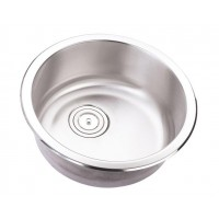 18 Inch Stainless Steel Undermount Single Bowl Kitchen / Bar / Prep Sink Round - 18 Gauge