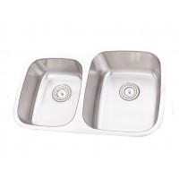 32 Inch Stainless Steel Undermount 40/60 Double Bowl Kitchen Sink - 16 Gauge