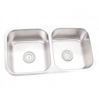 32 Inch Stainless Steel Undermount 50/50 Double Bowl Kitchen Sink - 16 Gauge