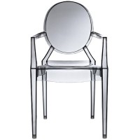 Louis Style Smoke Color Ghost Dining Armchair