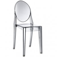 Victoria Style Smoke Color Ghost Dining Chair