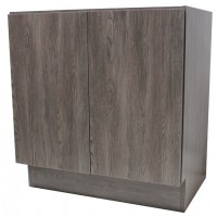 27 Inch European Design Bathroom Vanity Double Door Cabinet Base Country Oak Textured Finish