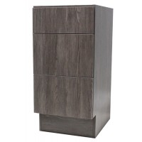 12 Inch European Design Bathroom Vanity 3-Drawer Cabinet Base Country Oak Textured Finish