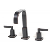 Widespread Lead Free 3 Hole Bathroom Faucet Venetian Bronze Finish