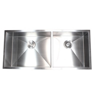 42 Inch Stainless Steel Zero Radius Design Undermount Double Bowl Kitchen Sink