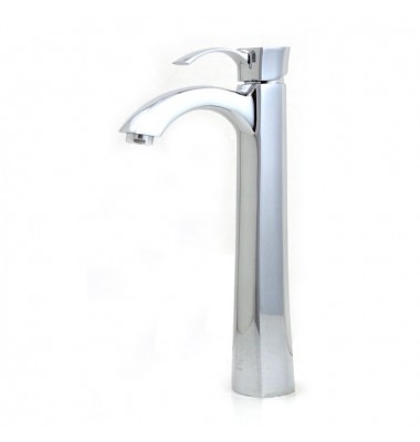 Lead Free Faucet Polished Chrome Bathroom Lavatory Vessel Sink Faucet - 12 x 9 Inch