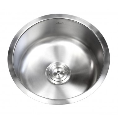 17 Inch Stainless Steel Undermount Single Bowl Kitchen / Bar / Prep Sink Round - 18 Gauge