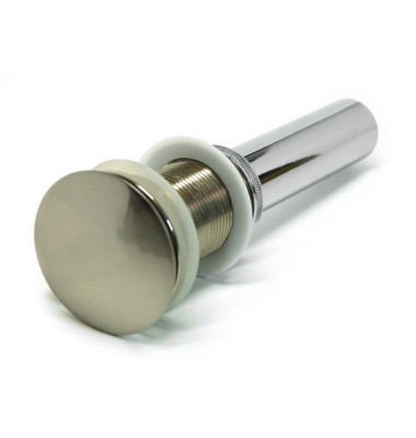 Brushed Nickel Bathroom Pop-up Drain without Overflow-1