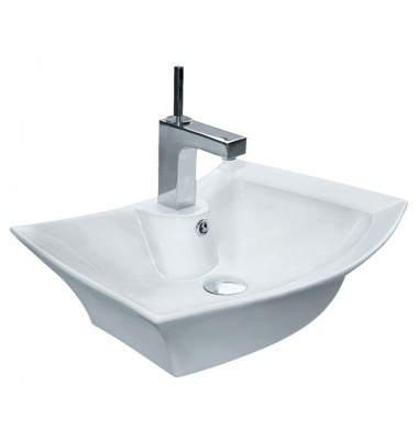 23-13/16 Inch Porcelain Ceramic Single Hole Countertop Bathroom Vessel Sink
