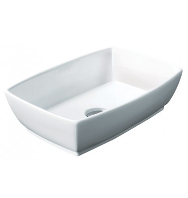 18-1/2 Inch Rectangular Porcelain Ceramic Countertop Bathroom Vessel Sink