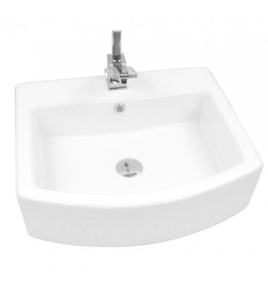 22 Inch Porcelain Ceramic Single Hole Countertop Bathroom Vessel Sink