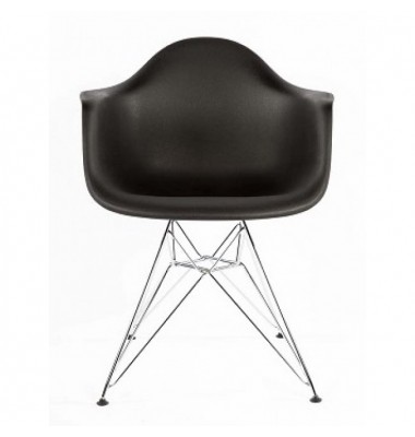 DAR Dining Armchair with Steel Eiffel Legs in Black