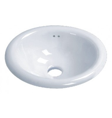 Porcelain Ceramic Vanity Drop In Bathroom Vessel Sink - 17-1/2 x 15 x 7-1/2 Inch