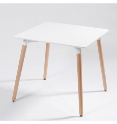 DSW White Square Dining Table