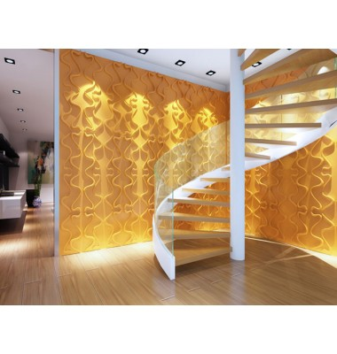 Gesture Design 3D Glue On Wall Panel - Box of 10 (26.67sqft)