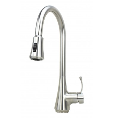 Ariel Genie Stainless Steel Lead Free Single Handle Pull Out Nozzle Sprayer Kitchen Faucet