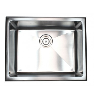 23 Inch Undermount / Drop-In Stainless Steel Single Bowl Kitchen / Utility / Laundry Sink 20mm Radius Design