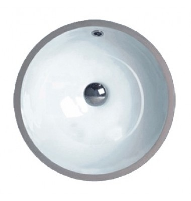 17-3/8 Inch Porcelain Ceramic Vanity Undermount Bathroom Vessel Sink