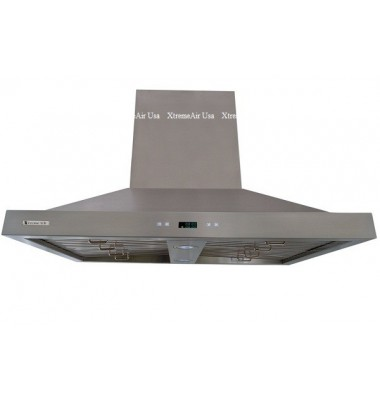 XtremeAIR 36 Inch Island Mount 900 CFM Stainless Steel Range Hood PX05-I36