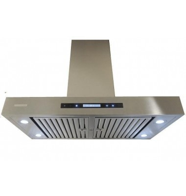 XtremeAIR 42 Inch Island Mount 900 CFM Stainless Steel Range Hood PX06-I42