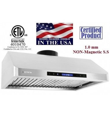 XtremeAIR 30 Inch Under Cabinet Mount Stainless Steel Range Hood 900 CFM R130
