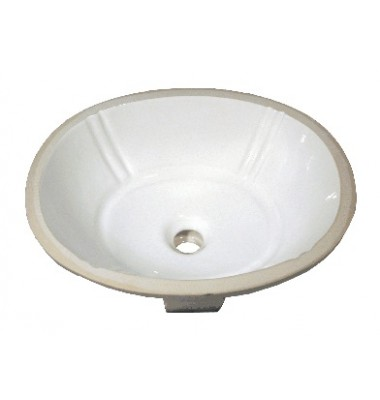 18-1/8 Inch Porcelain Ceramic Vanity Undermount Bathroom Vessel Sink