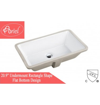 21 Inch Porcelain Ceramic Vanity Undermount Bathroom Vessel Sink