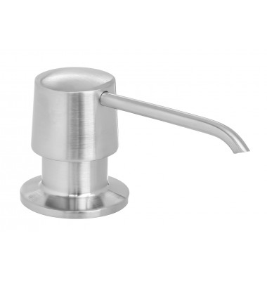 Round Shape All Metal Construction Deck / Countertop Mount Solid Brass Pump Hand / Dish Soap Dispenser Brushed Nickel