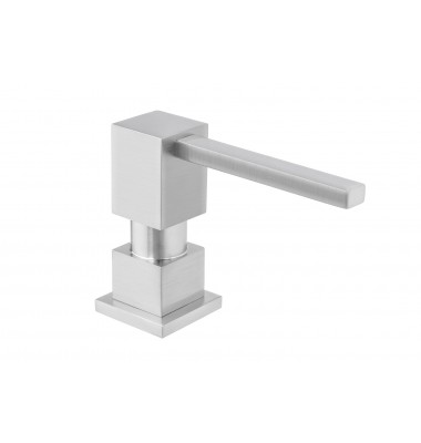 Square Shape All Metal Construction Deck / Countertop Mount Solid Brass Pump Hand / Dish Soap Dispenser Brushed Nickel