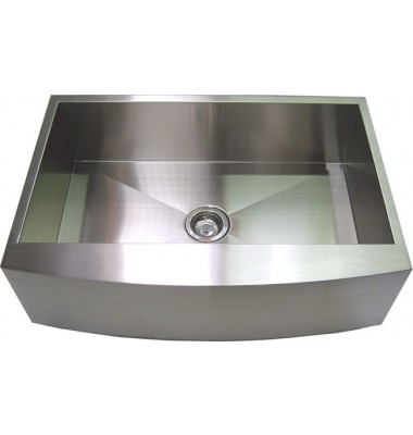 36 Inch Stainless Steel Single Bowl Curved Front Farm Apron Kitchen Sink-1