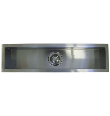 42 Inch Stainless Steel Undermount Single Narrow Bowl Kitchen / Bar / Prep Sink Zero Radius Design