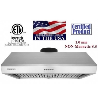 XtremeAIR 30 Inch Under Cabinet Stainless Steel Range Hood UL13-U30