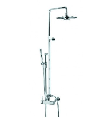 Ariel Star Design Shower Faucet Set with Tub Filler and Hand Shower