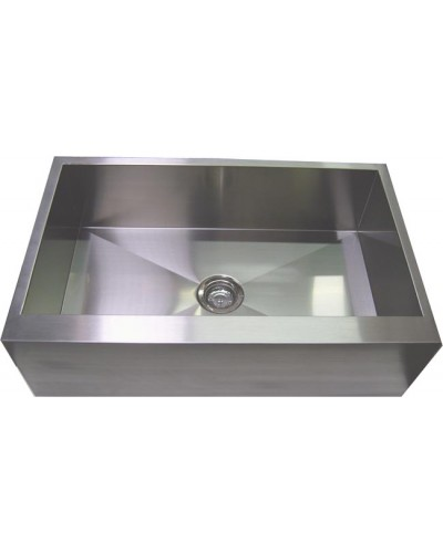 33 Inch Stainless Steel Single Bowl Flat Front Farm Apron Kitchen Sink