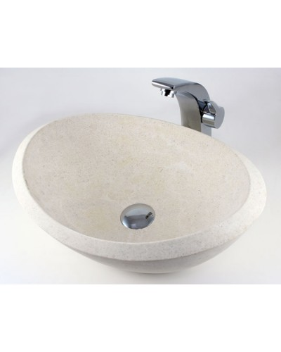 Bathroom Sinks 19 X 16 nature river stone countertop bathroom lavatory vessel sink - 19 x