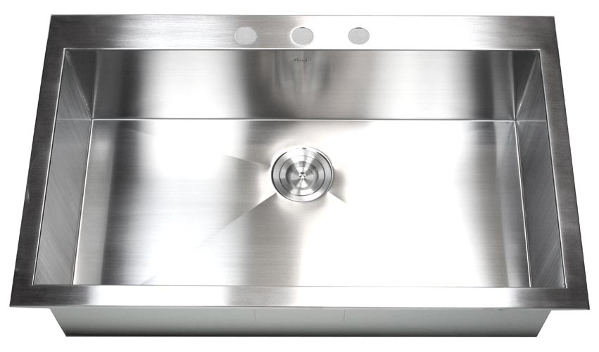 36 inch top mount drop in stainless steel single bowl kitchen sink 36 inch top mount drop in stainless steel single bowl kitchen sink zero radius design workwithnaturefo