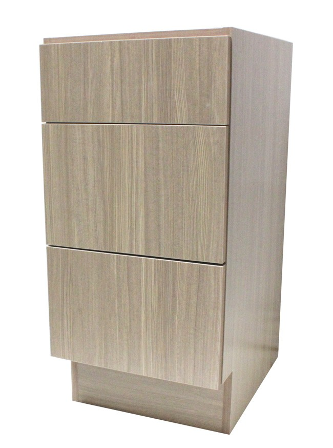 15 inch european design bathroom vanity 3-drawer cabinet base