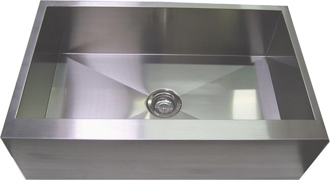 30 Inch Farmhouse Sink Stainless Steel : 30 Inch Stainless Steel Single Bowl Flat Front Farm Apron Kitchen Sink
