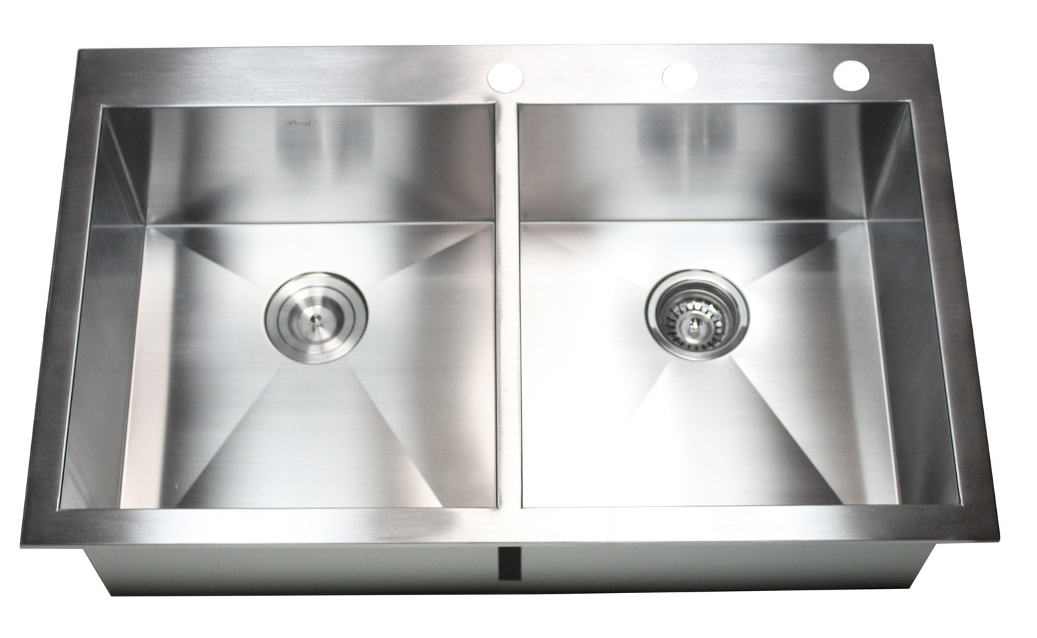 36 inch top mount   drop in stainless steel double bowl kitchen sink zero radius design 36 inch top mount   drop in stainless steel double bowl kitchen      rh   cbath com