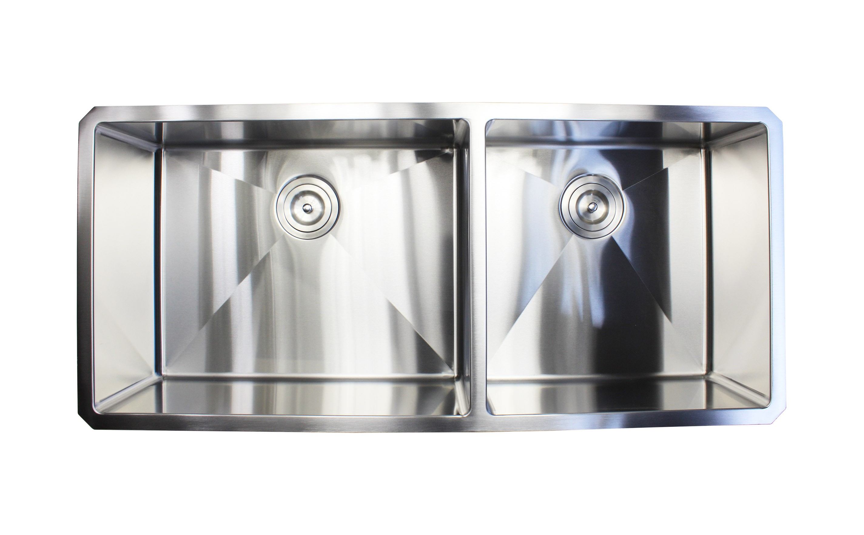 42 Inch 16 Gauge Undermount Double Bowl Stainless Steel